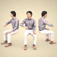 3D人物素材 [Posed]  065_Syun