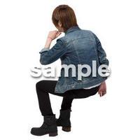 Cutout People 座る 男性 LL_399