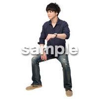 Cutout People 座る 男性 LL_221