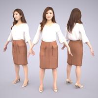 3D人モデルAポーズ 052_Mao