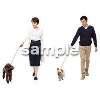 Cutout People 犬の散歩 II_466