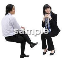人物切抜き素材 座る人Ⅱ編 Q_012