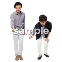 Cutout People 男性ペア JJ_431