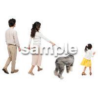 Cutout People 犬の散歩 II_444
