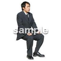 人物切抜き素材 座る人編 H_174