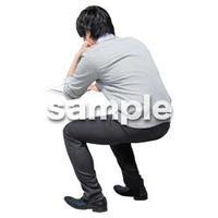 人物切抜き素材 座る人Ⅱ編 Q_451