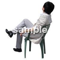 人物切抜き素材 座る人Ⅱ編 Q_427