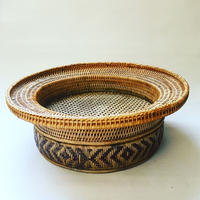 Indonesian  Vintage Rattan  Compote