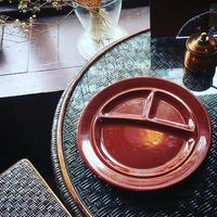 1930's Vintage California Pottery ''METLOX''Brown Devided Plate