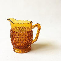 "U.S.A. Vintage ""DOYLE GLASS"" Amber Pitcher"