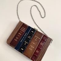 【22k Gold】Book shelf clutch bag / square