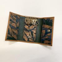 Key holder case 植物タンニンなめしレザー&ヴィンテージ レザー