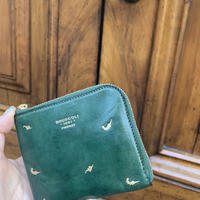 【1点もの】MINI WALLET /leaf & bard