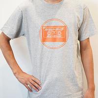 カセットロゴA(杢グレー) ザ・カセットテープ・ミュージックTシャツ