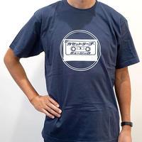 カセットロゴA(紺) ザ・カセットテープ・ミュージックTシャツ