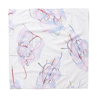 DEMARCOLAB  BRANCHES & LEAVES BANDANA-IVORY