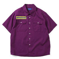 LAFAYETTE HIGH - VIS BOX LOGO S/S WORK SHIRT- PURPLE