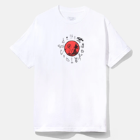 BAKERSKATEBOARDS SUPERSTITIONS S/S TEE-WHITE