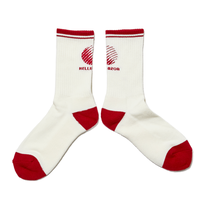 HELLRAZOR LOGO SOX -WHITE/BURGUNDY