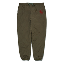 HELLRAZOR WAVE QUILTED PANTS-ARMY GREEN