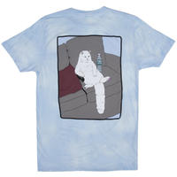 RIPNDIP COUCH PATATO TEE  BLUE/WHI,MINERALWASH
