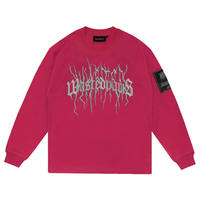 WASTED PARIS THUNDER BRIDGE L/S TEE-RASBERRY