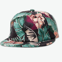 DIAMOND SUPPLY CO TROPICAL PARADISE STRAPBACK HAT - BLACK