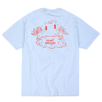 BUTTER GOODS HEART BREAKER TEE     POWDER BLUE