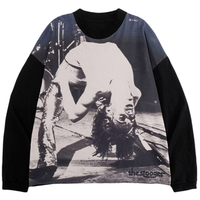 MGCT THE STOOGES L/S TEE-BLACK