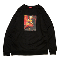 HELLRAZOR EXCREW SWEAT-BLACK