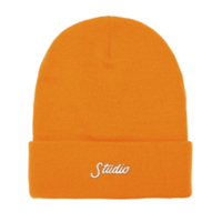 STUDIO SKATEBOARDS SMALL SCRIPT BEANIE-ORANGE
