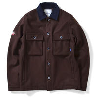 LAFAYETTE CPO WOOL SHIRT JACKET-BROWN
