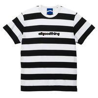 ALLGOODTHINGZ BILLBOARD STRIPE TEE-BLACK