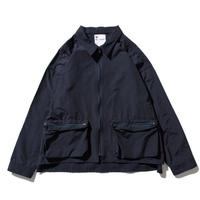 DEMARCOLAB GMS NYLON ZIP JACKET  NAVY