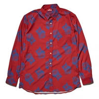HELLRAZOR PAISLEY DRESS SHIRTS-RED