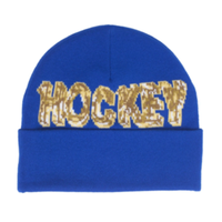HOCKEY ICE BEANIE-ROYAL