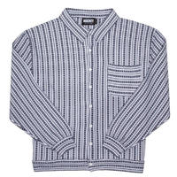 HOCKEY HILL CARDIGAN-WHITE/NAVY