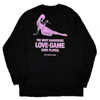 ON OUR OWN   LOVE GAMES L/S TEE  BLACK