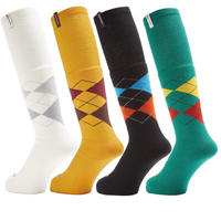 WHIMSY TUBE ARGAYLE SOCKS-4色