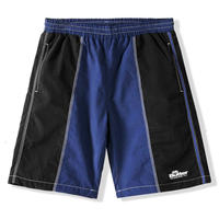 BUTTER GOODS PANEL SHORTS-BLACK/BLUE