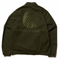 HELLRAZOR OILED LOGO EMBSWING TOP-OLIVE