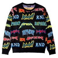 RIPNDIP ROCK N NERM SWEATER-BLACK
