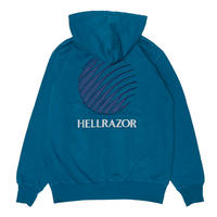HELLRAZOR LOGO PATCH HOODIE - JADE BLUE