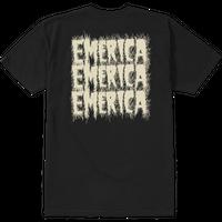 EMERICA  SCANNER S/S TEE-BLACK