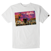 EMERICA GREETINGS TEE WHITE