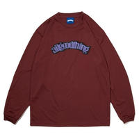 ALLGOODTHINGZ DASHBOARD L/S TEE-GARNET RED