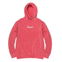 BUTTER GOODS  PIGMENT DYE CLASSIC LOGO HOOD    CORAL