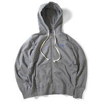 LAFAYETTE MINI BOX LOGO FULL ZIP HOODED SWEATSHIRT-H,GRA