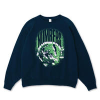 NUMBERS EDITION STONEHENGE FLEECE CREW-NAVY