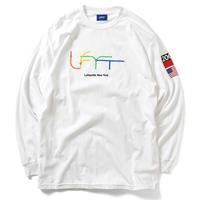 LAFAYETTE SUBWAY  LINE LFYT L/S TEE-WHITE